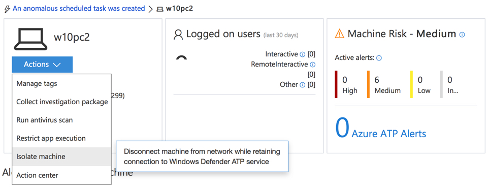 Integrating Windows Defender ATP with Intune Compliance Policies