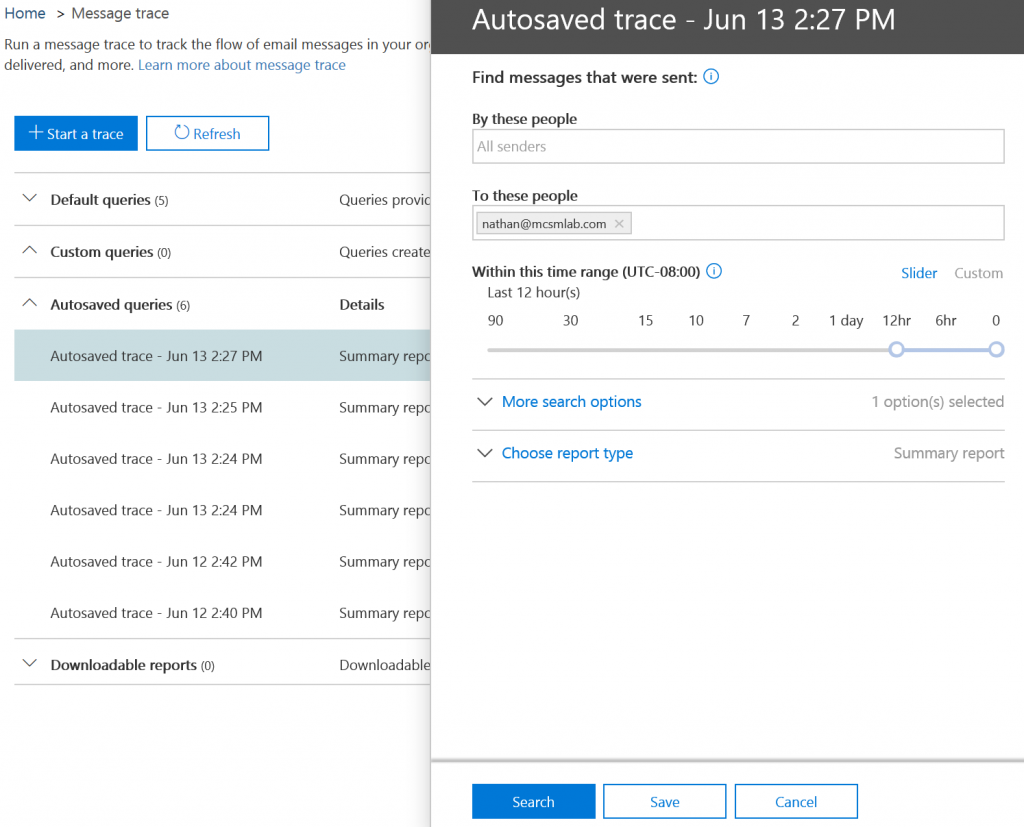 Office 365 Message Tracking Improvements