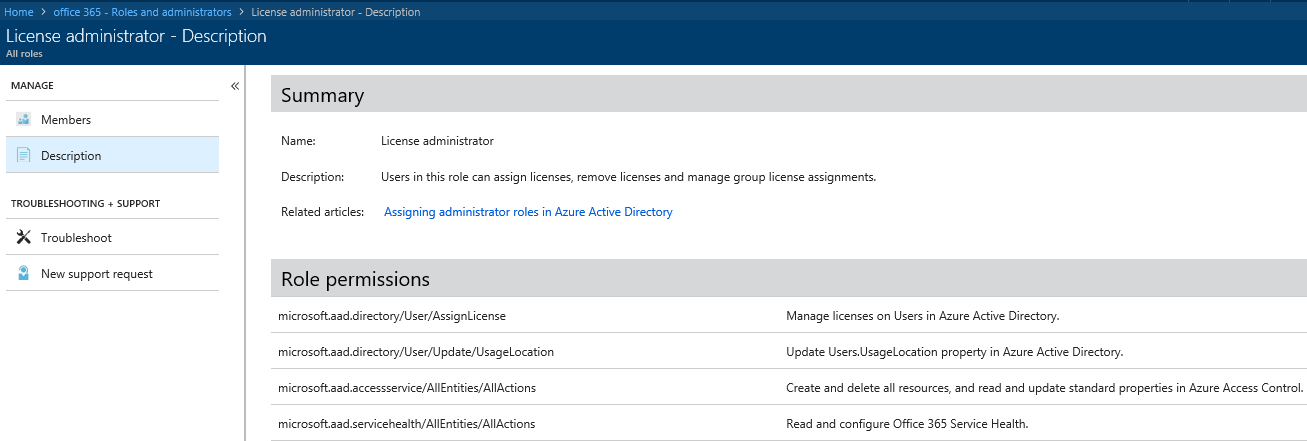 License Admin Role and Other Improvements in Azure AD Administration