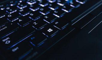 Shot of a Microsoft Windows keyboard