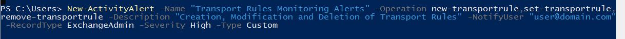 Activity Alerts Screenshot of Code