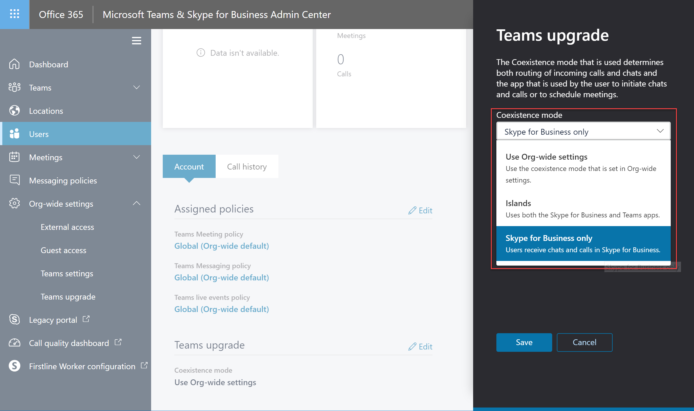 Enabling Skype for Business in a new Teams-Only Office 365