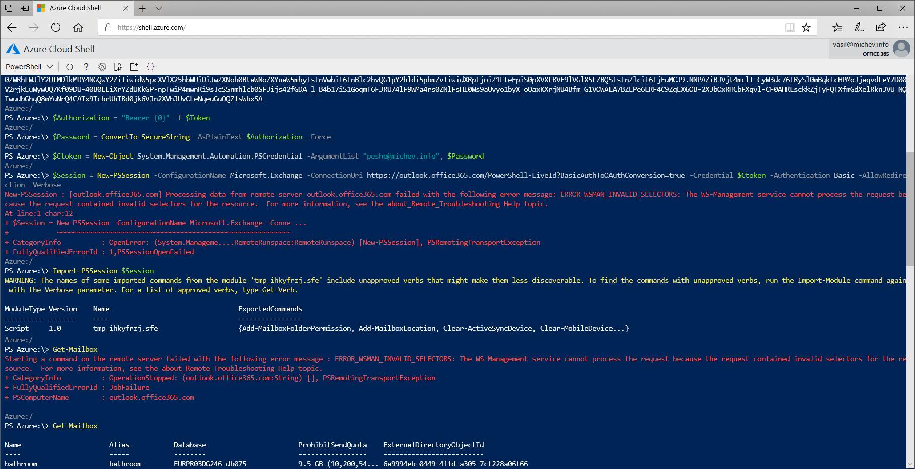 Azure Cloud Shell Script
