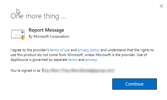 Report message screenshot