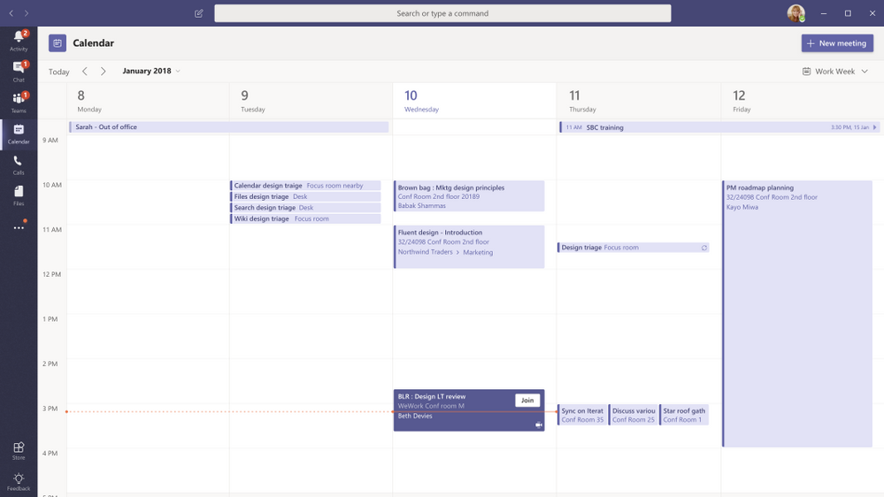 Whats New On Calendar >> What S New In Microsoft Teams At Enterprise Connect 2019