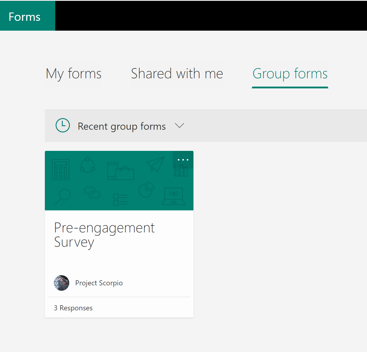 Groups forms in Microsoft Teams