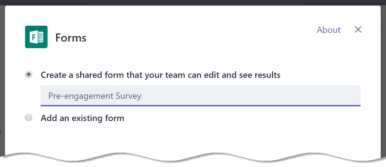 Name your Microsoft Forms