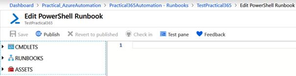 Edit PowerShell Runbook