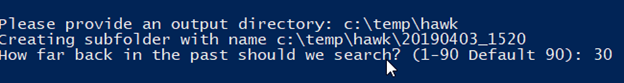 Output directory