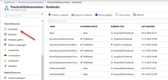 Azure Automation Runbooks