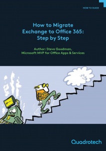 Pages from How to Migrate Exchange to Office 365 Step by Step front cover