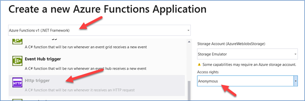 Create a new Azure Functions Application