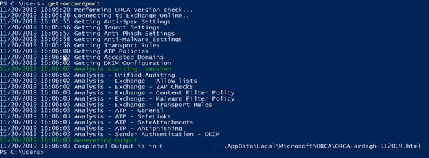 Office 365 ATP report script