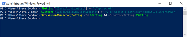 Powershell Script for Top Secret Office 365 Groups