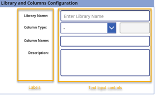 Library and columns configuration