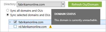 Unreachable domains