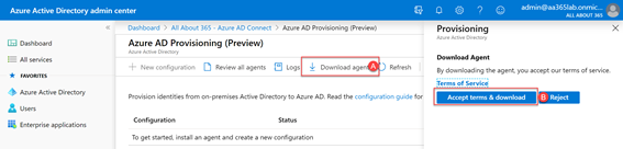 Azure AD Provisioning (Preview) - Download Agent