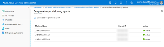 On-premises provisioning agents