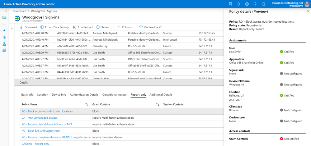 New policy details blade for Conditional Access troubleshooting in public preview