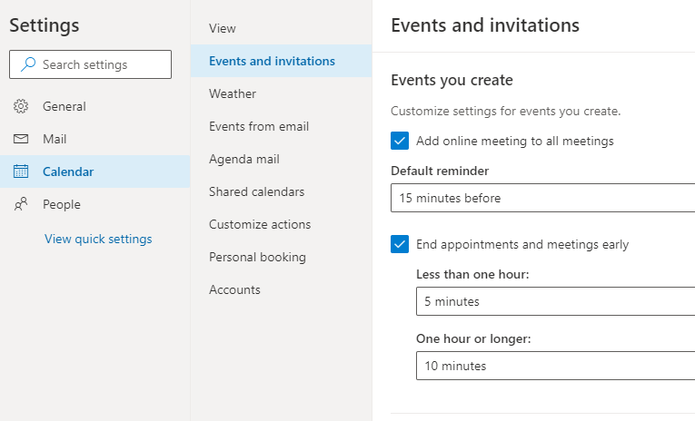Option to create all meetings online for Outlook on the web and Outlook mobile