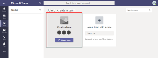 Create an all company Team for better communications and to enable cross-department chat