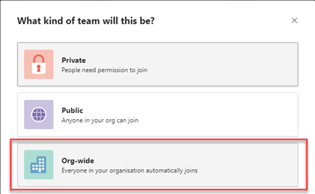 Build an all company team