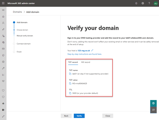 Verify your domain