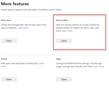 More features for user profiles