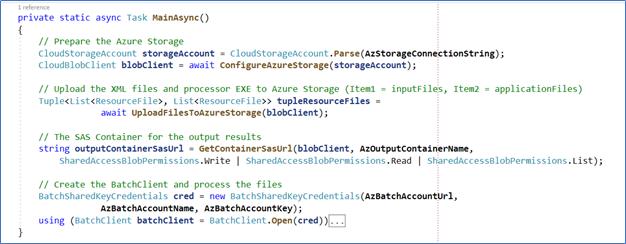 Azure Batch script