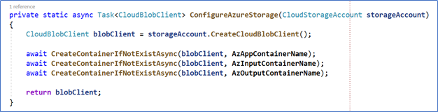 A screenshot of Azure batch script