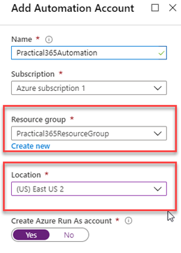 Azure Automation account