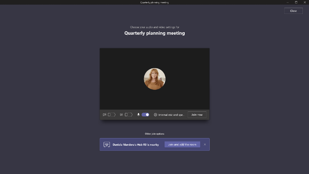 Proximity-based meeting join, now available for Surface Hub