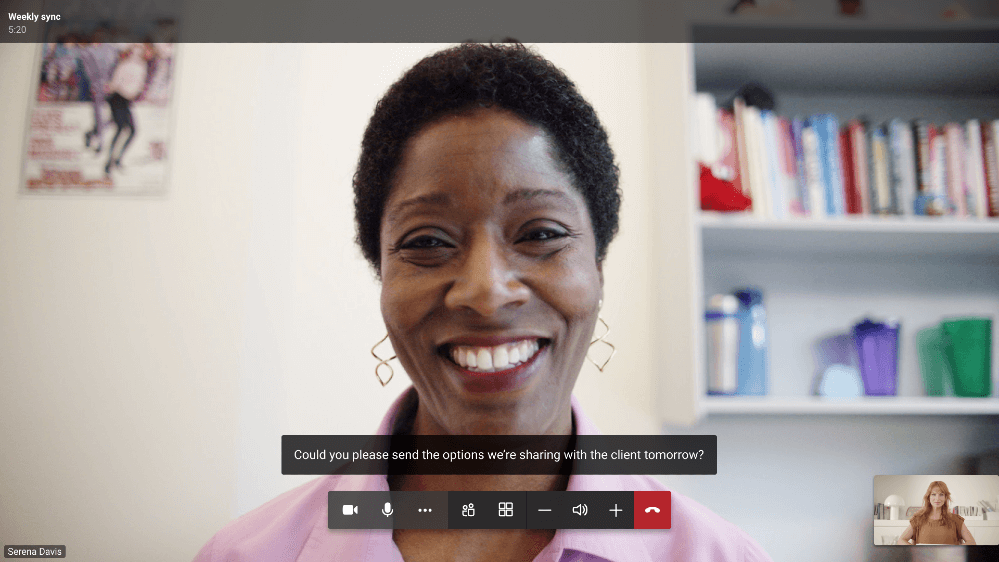 Live captions are now available for collaboration bars