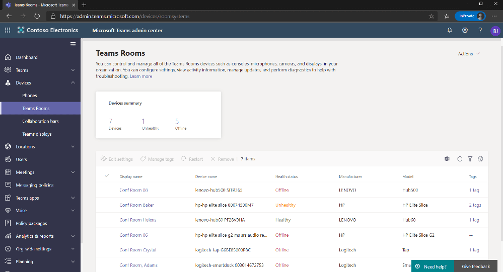 Manage Teams Devices from Teams Admin Center