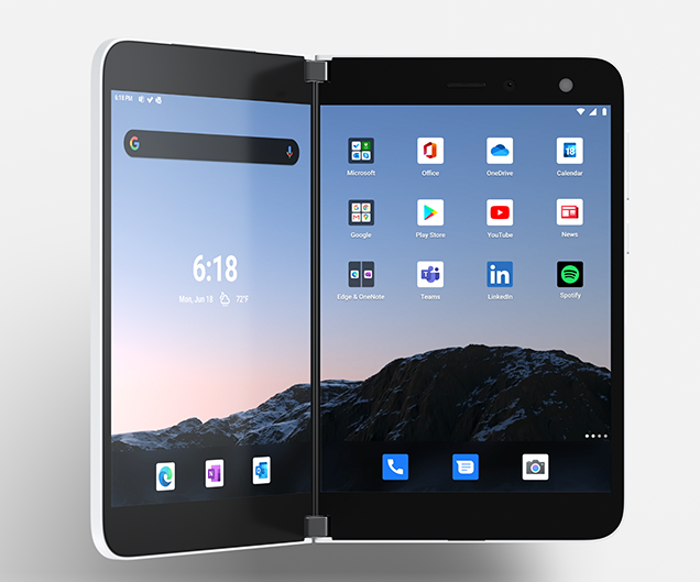 Microsoft Surface Duo brings mobile productivity powered by two screens + M365 & Android apps