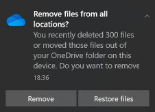 Require users to confirm large delete operations.