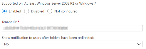 Silently move Windows known folders to OneDrive
