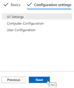 Deploy the configuration profile for Intune policies